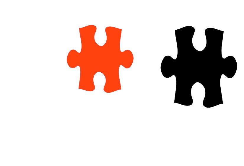 puzzle rot schwarz.op